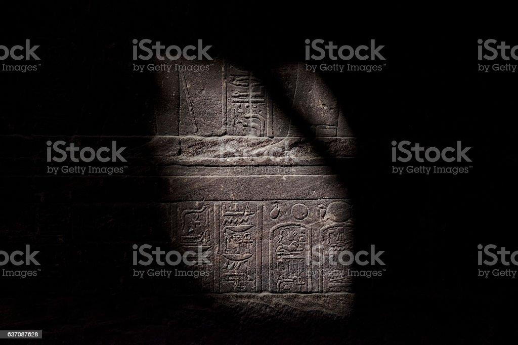 Hieroglyphics revealed stock photo