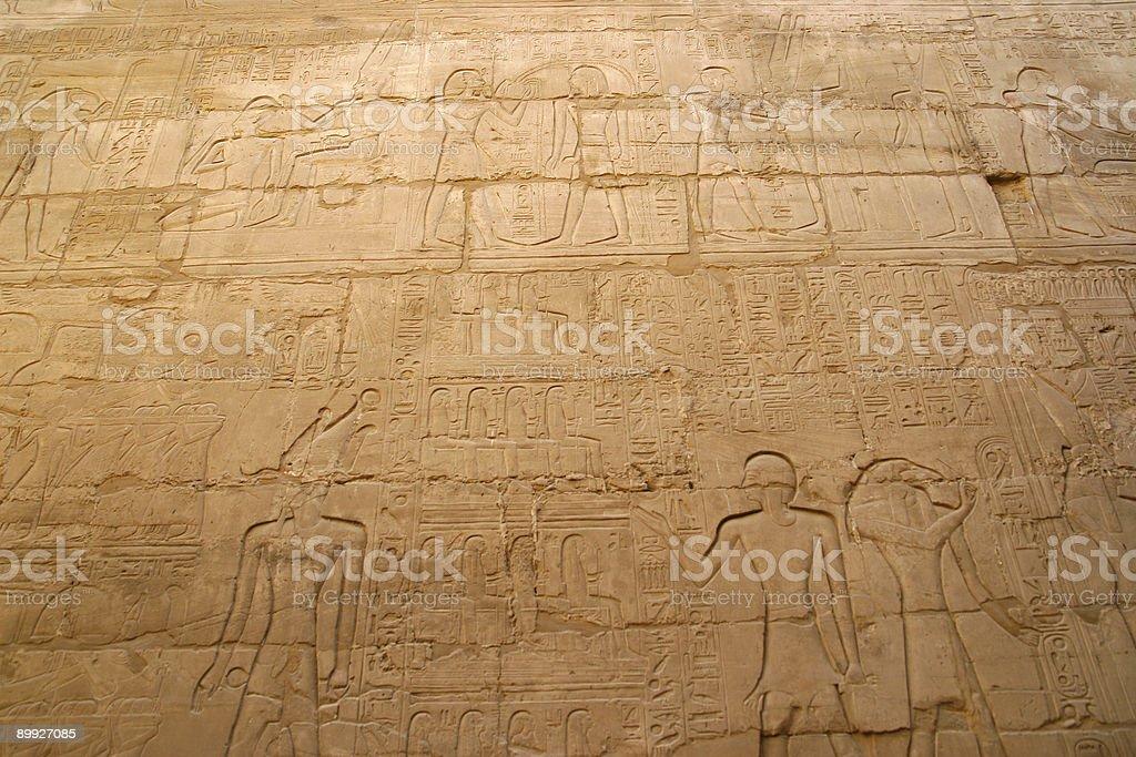 hieroglyphs in Karnak royalty-free stock photo
