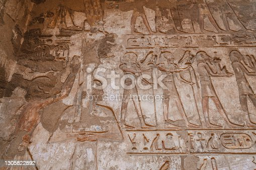 Hieroglyphs in Luxor temple