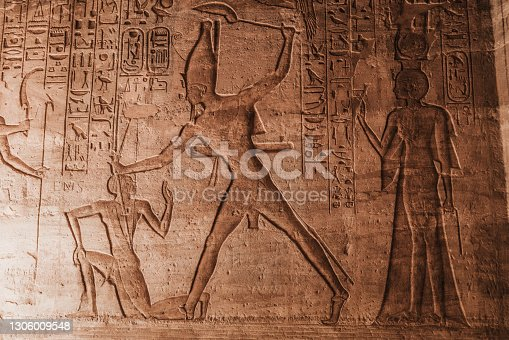 Hieroglyphs in Luxor temple