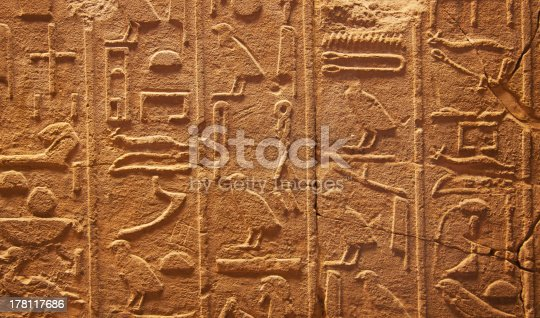 178769498 istock photo Hieroglyphs on the wall 178117686
