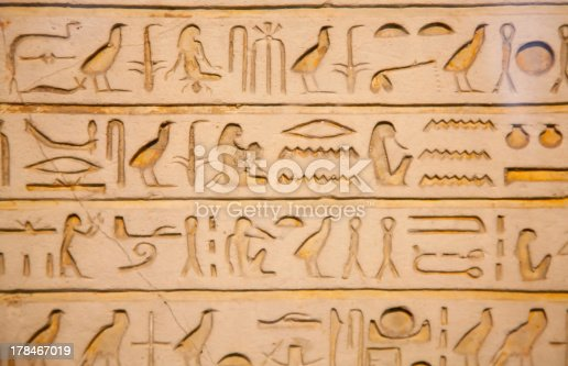 178769498 istock photo Hieroglyphs on the wall 178467019