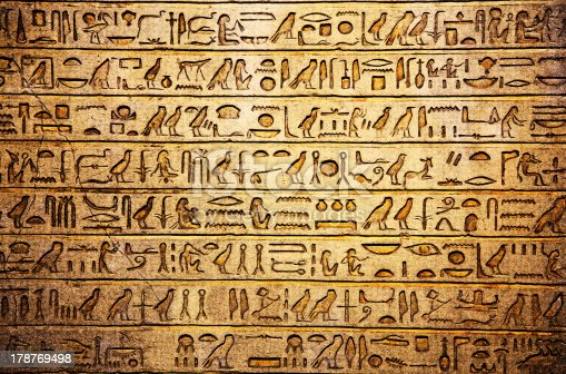 178769498 istock photo Hieroglyphs on the wall 178769498