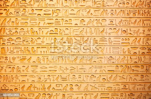 178769498 istock photo Hieroglyphs on the wall 464694968