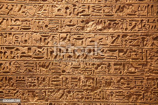 178769498 istock photo Hieroglyphs on the wall 530568299