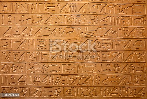 178769498 istock photo Hieroglyphs on the wall 616248050