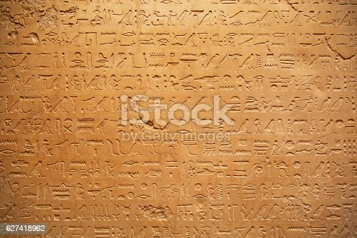 178769498 istock photo Hieroglyphs on the wall 627418962
