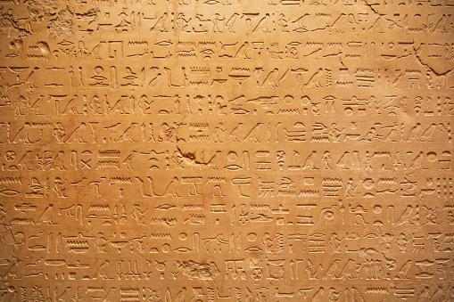 istock Hieroglyphs on the wall 627418962