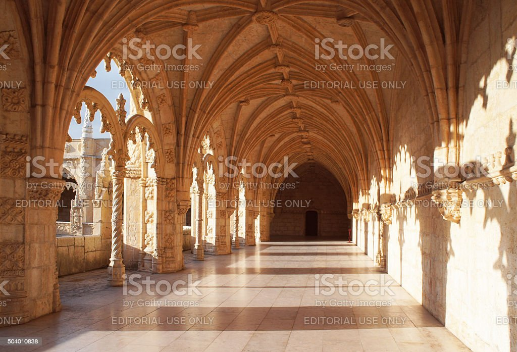 Hieronymites Monastery stock photo