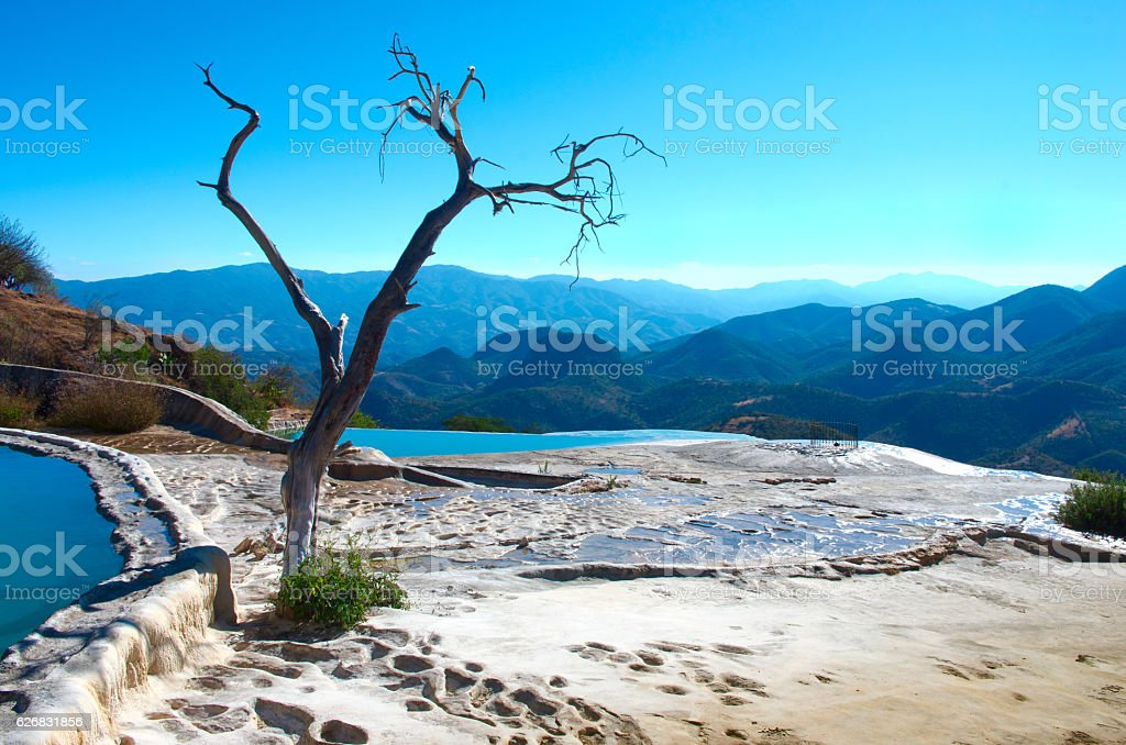 Hierve el Agua in the Central Valleys of Oaxaca. Mexico stock photo