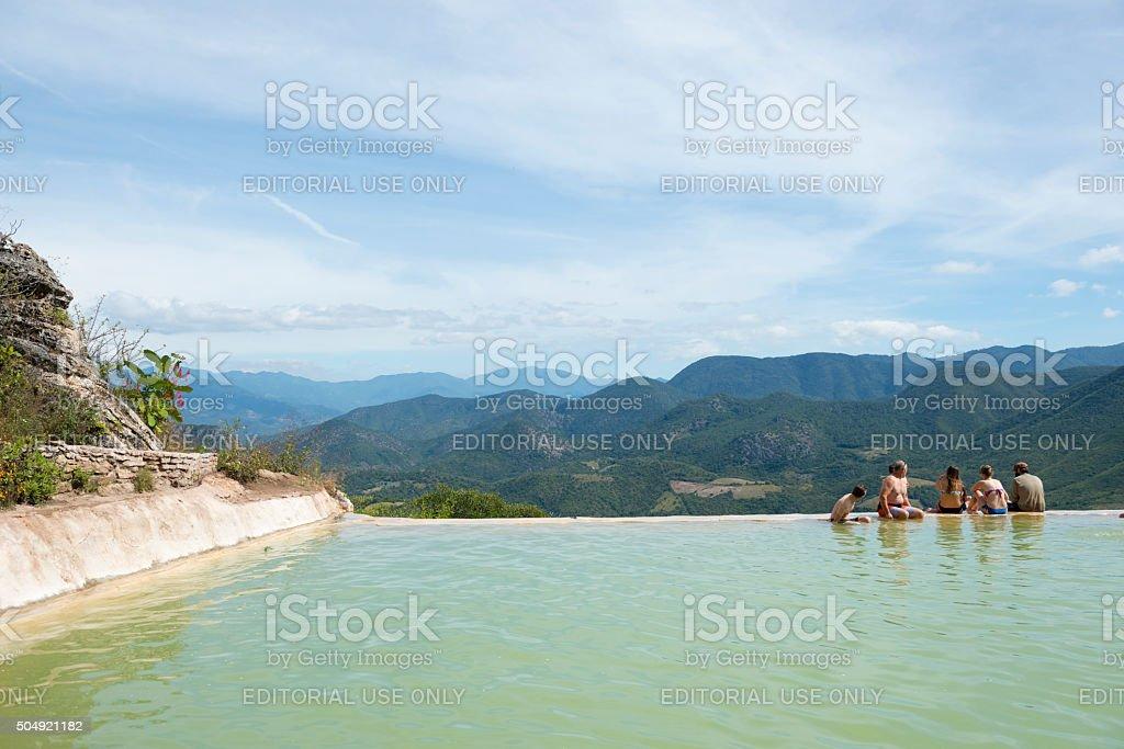 Hierve el Agua, Oaxaca, Mexico stock photo