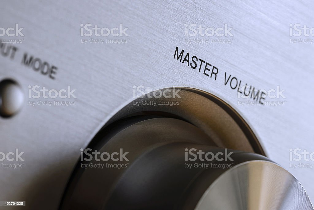 Hi-fi Master Volume Knob stock photo