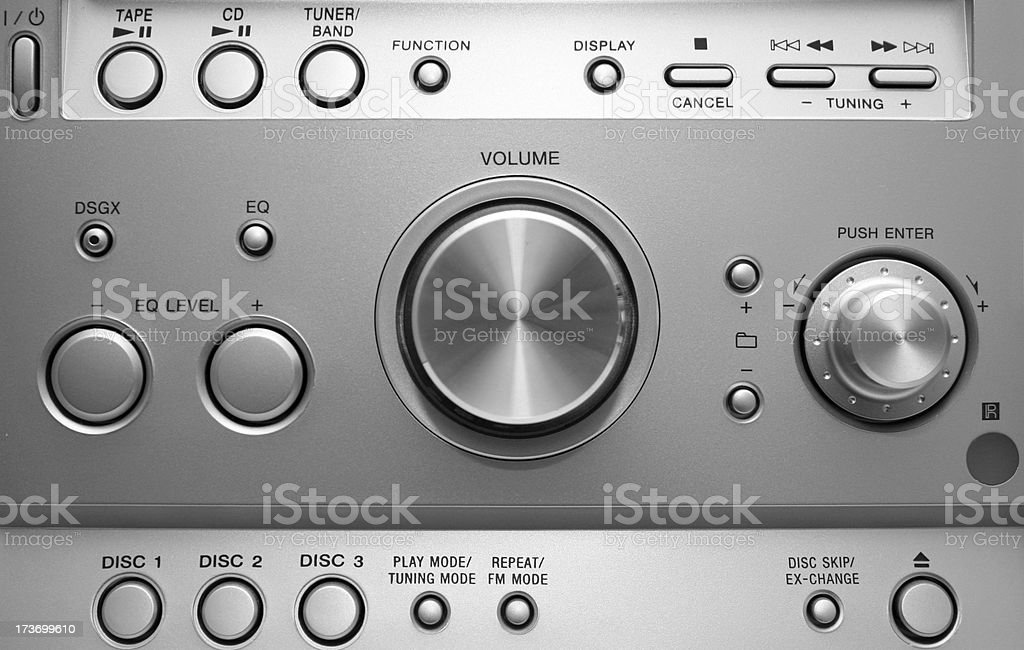Hifi panel royalty-free stock photo