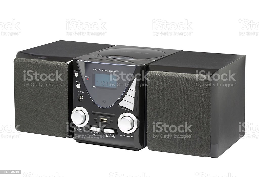 CD MP3 Hi-Fi (clipping path) royalty-free stock photo