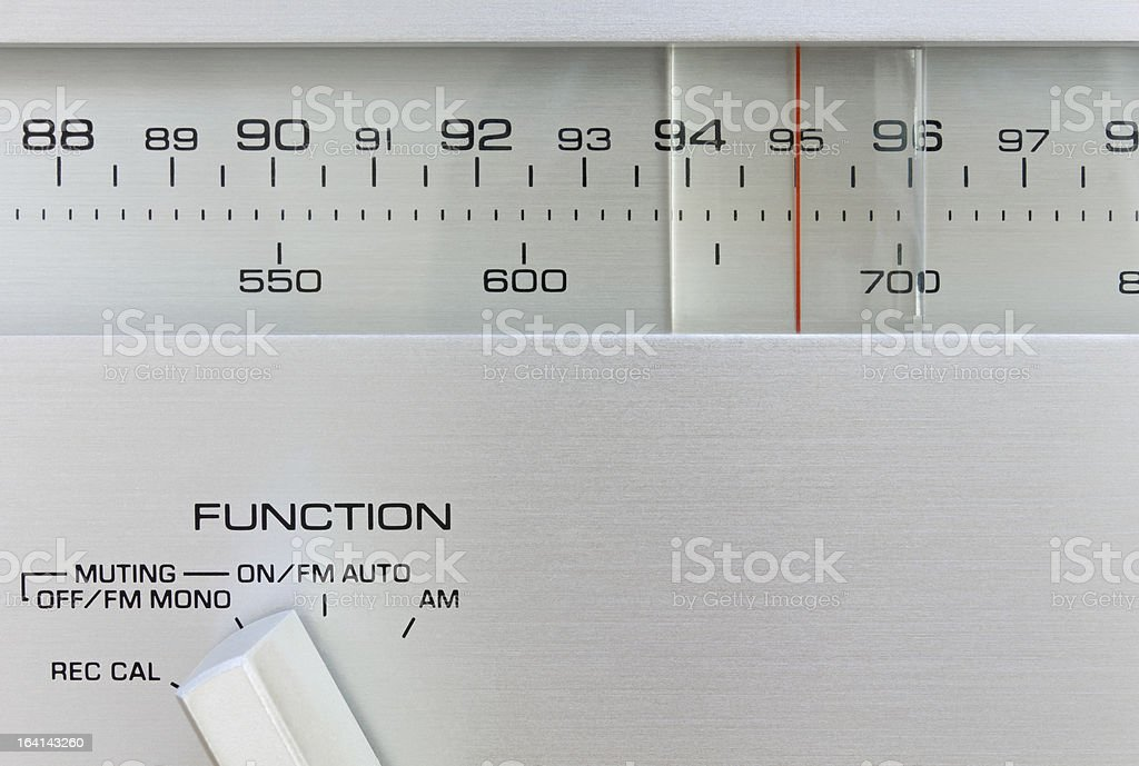 Hi-Fi Radio Tuner stock photo