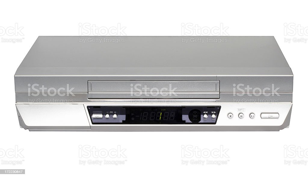 HiFi stereo SVHS VCR (clipping path), isolated on white background stock photo