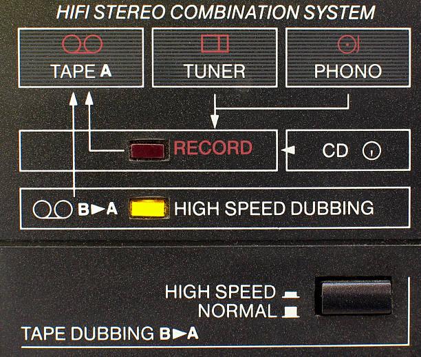 hi-fi system connection diagram stock photo