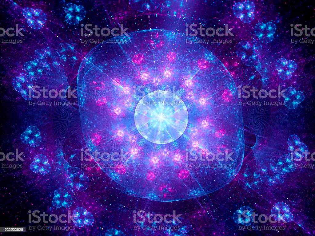 Higgs boson fractal artwork stock photo