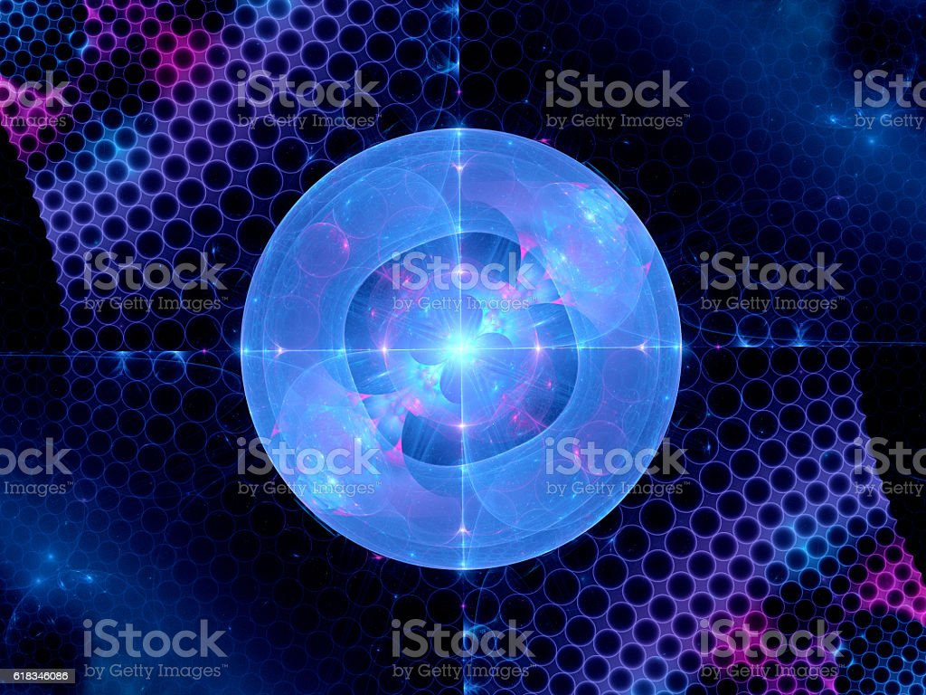 Higgs boson fractal stock photo