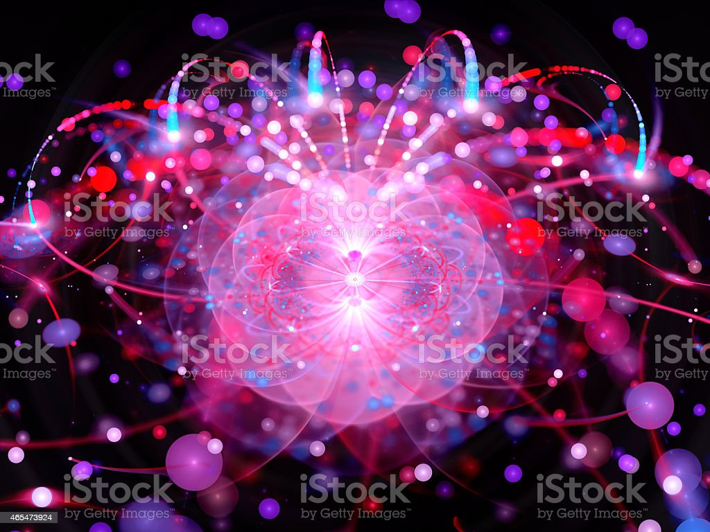 Higgs boson in large hadron collider stock photo