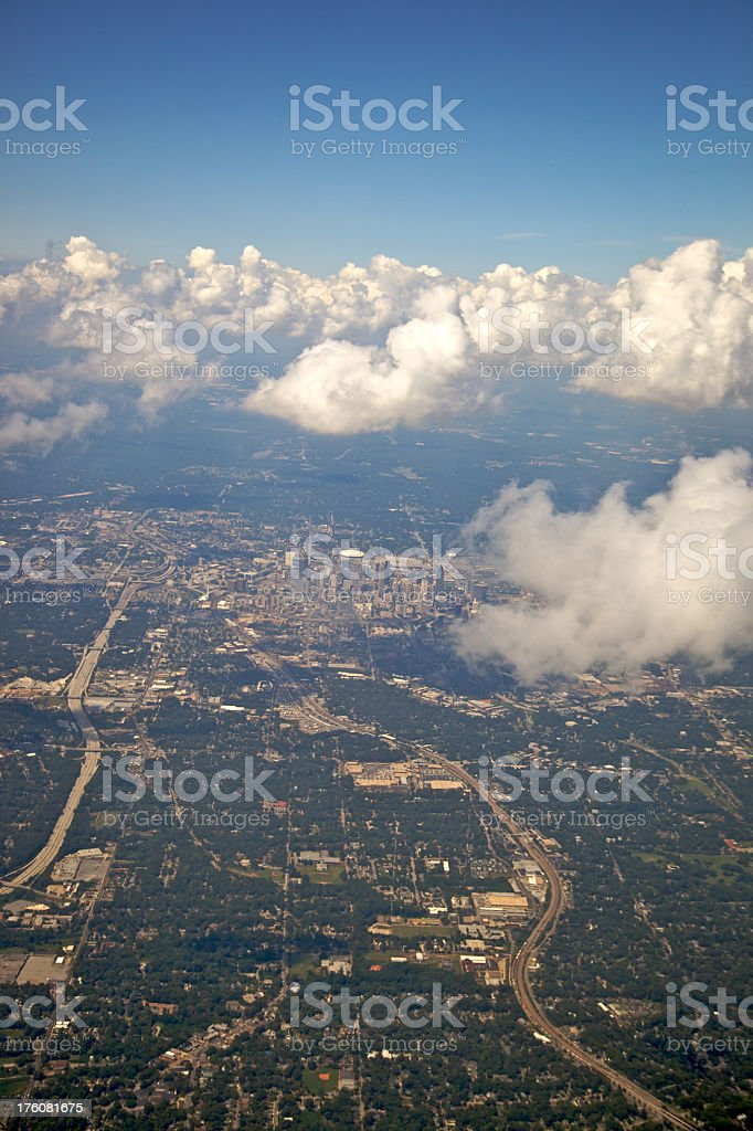 High Above Atlanta XXXL royalty-free stock photo