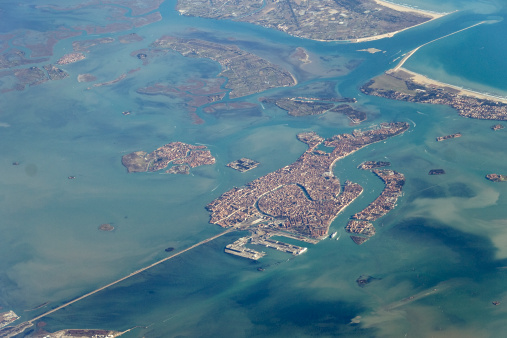 High above Venice
