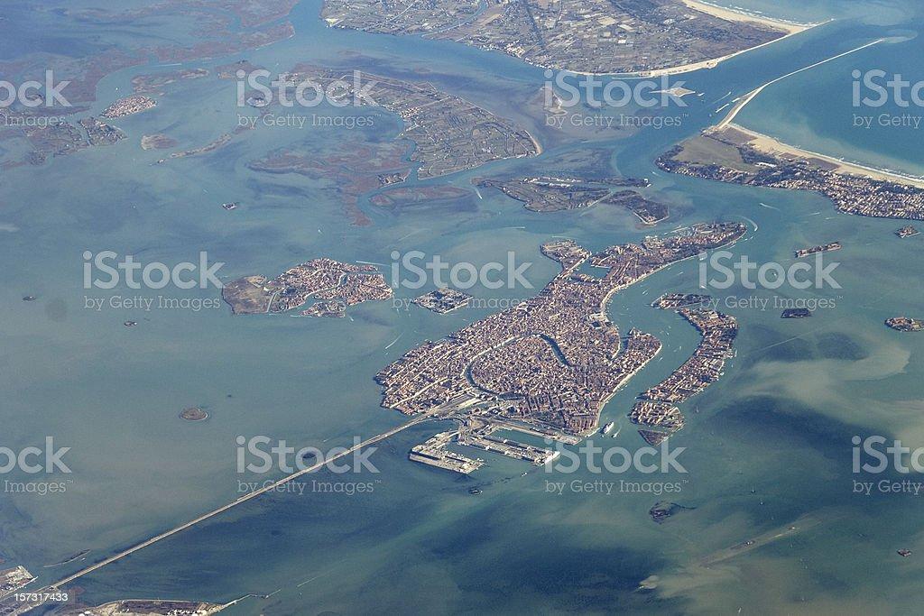 High above Venice stock photo