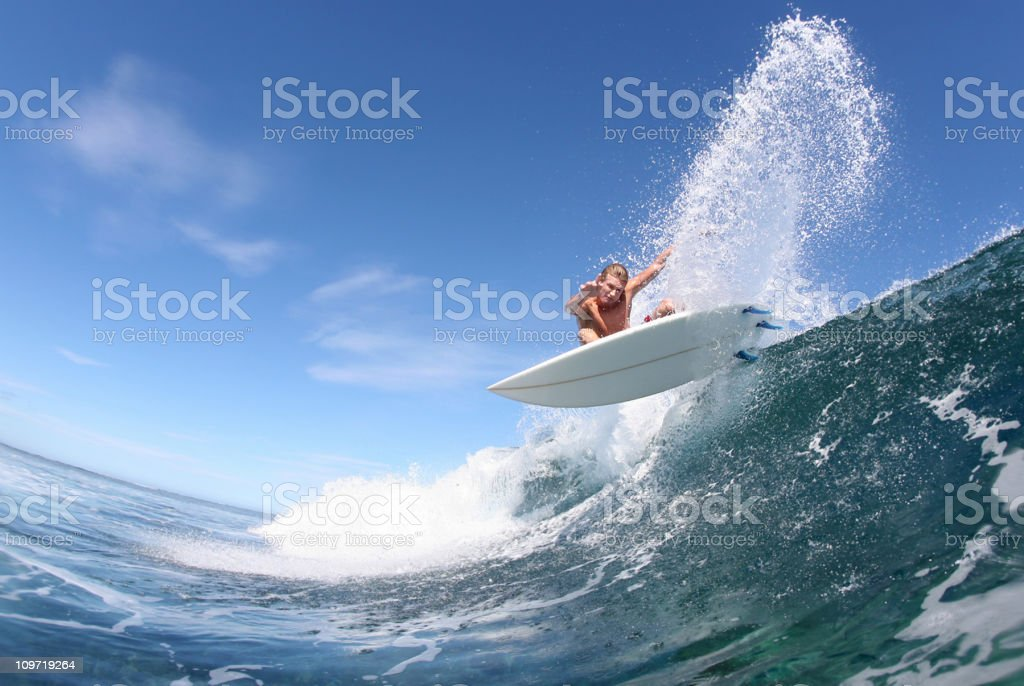 high action and performance surfing royalty-free stock photo