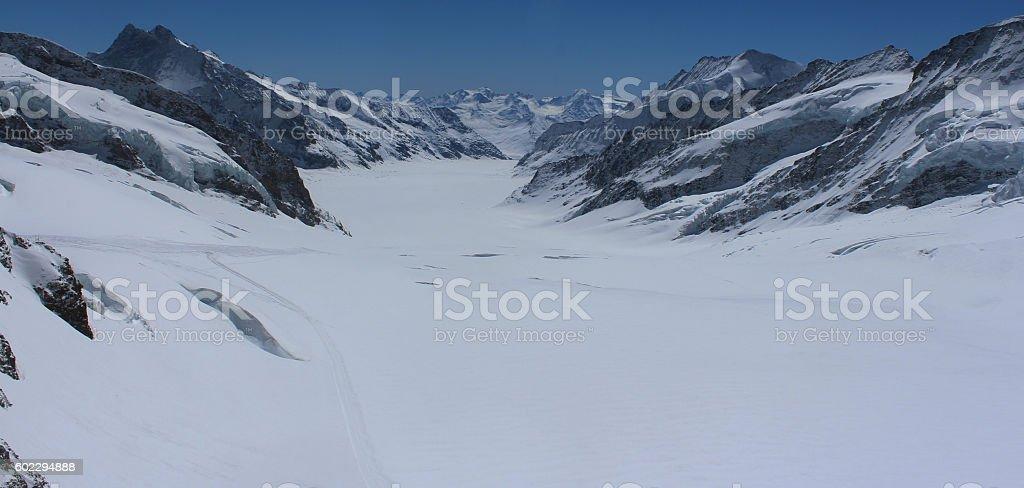 High Alpine Valley, Switzerland stock photo