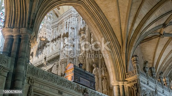 High altar in Winchester cathedral, Winchester (England). This is the longest cathedral in Europe.