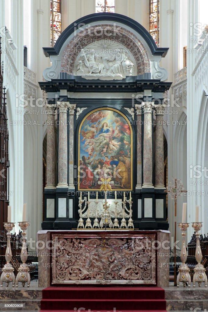 Maître-autel de la cathédrale Notre-Dame à Anvers, Belgique - Photo