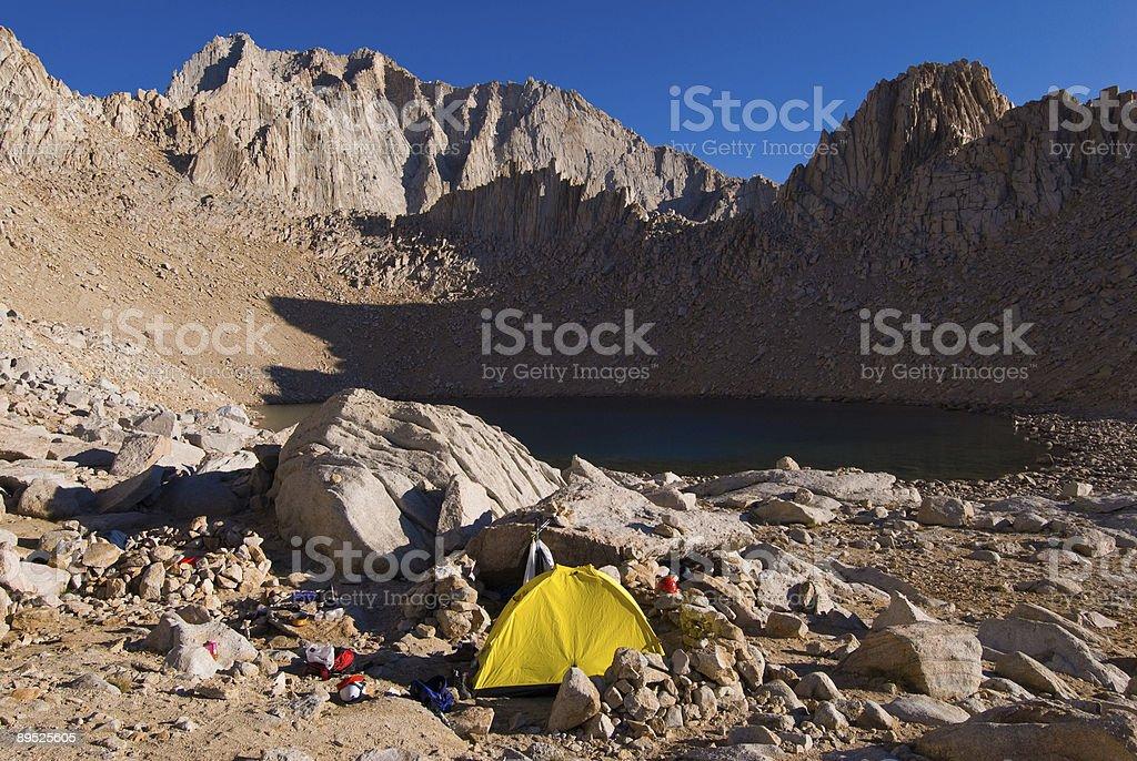 Altitud campamento Base foto de stock libre de derechos