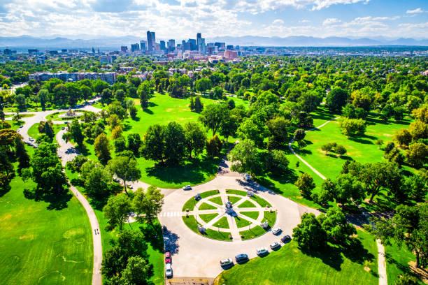 High altitude Denver Colorado Life stock photo