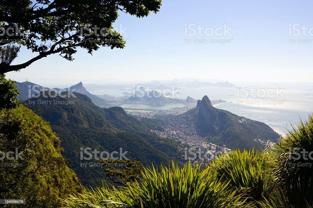 High altitude Rio de Janeiro landscape stock photo
