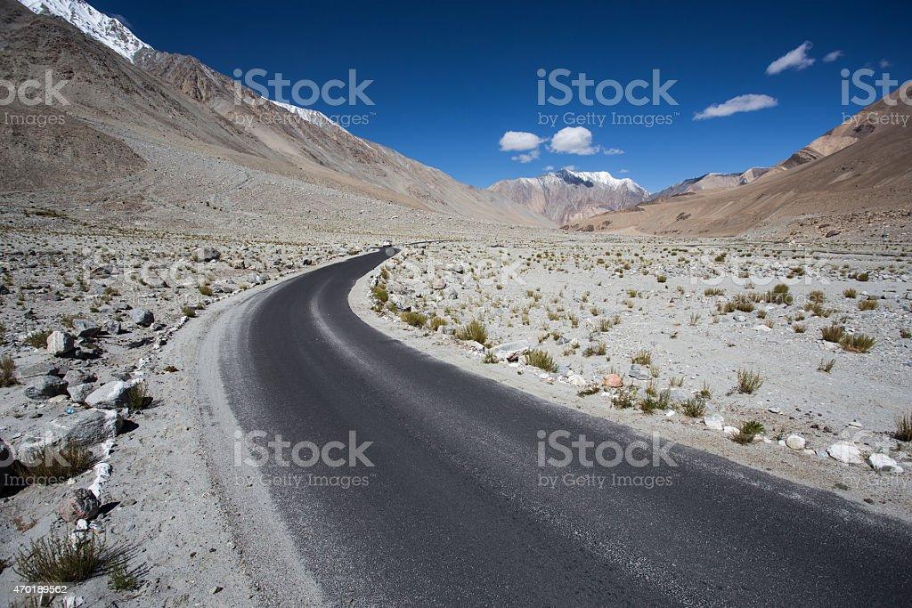 High altitude road im Himalaja – Foto