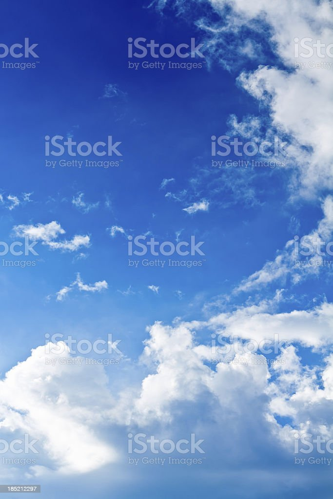 High altitude sky with clouds royalty-free stock photo