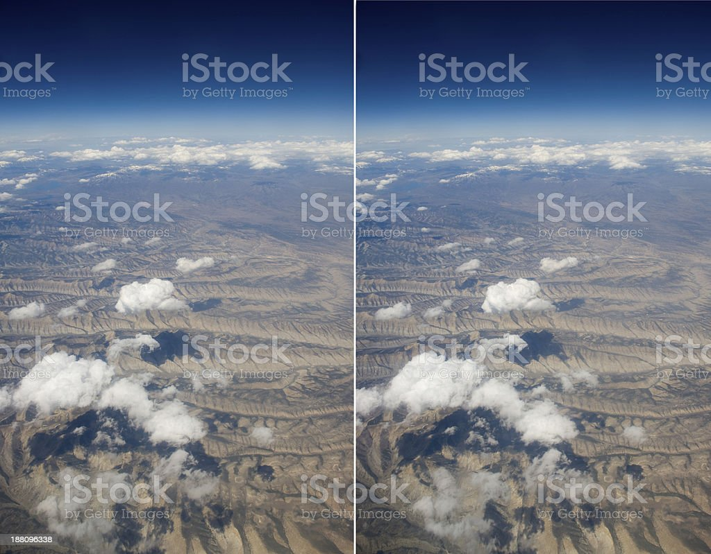 High Altitude View Of Clouds Stereo Pair Stock Photo Download Image Now Istock