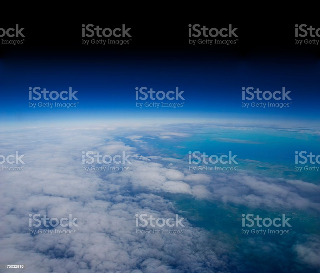 High altitude view of the Earth. stock photo