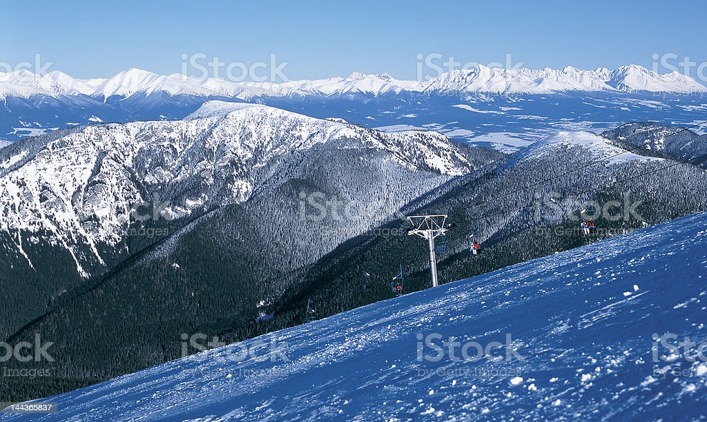 high and low tatras stock photo