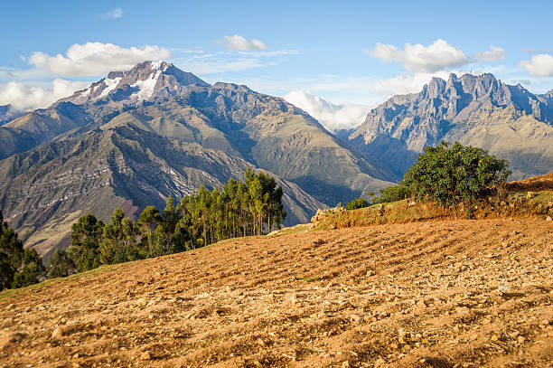 High Andes Farming stock photo