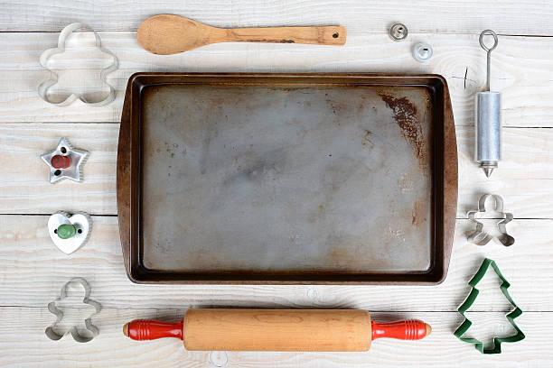 high angle baking still life - bakplåt bildbanksfoton och bilder