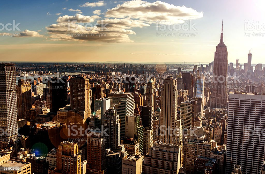 High Angle New York stock photo
