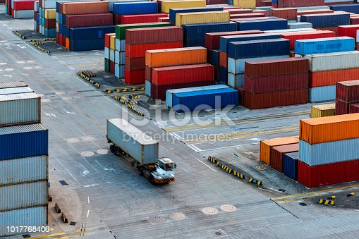 A large number of container in Shanghai Yangshan deepwater port.