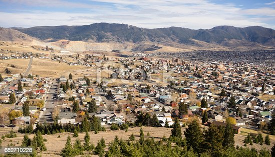 istock High Angle Overlook Walkerville Butte Montana Downtown United States 682710228