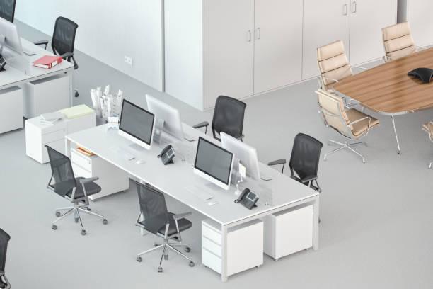 Alto ángulo tiro de un espacio de oficina moderna - foto de stock