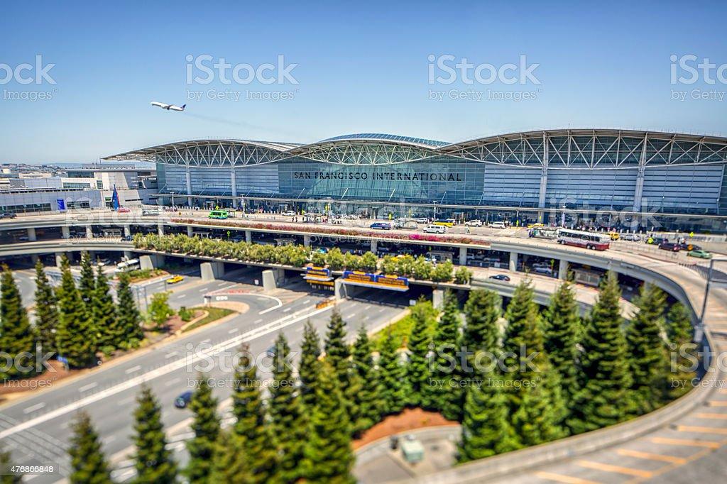 High Angle Stock Photo of the San Francisco International Airport stock photo