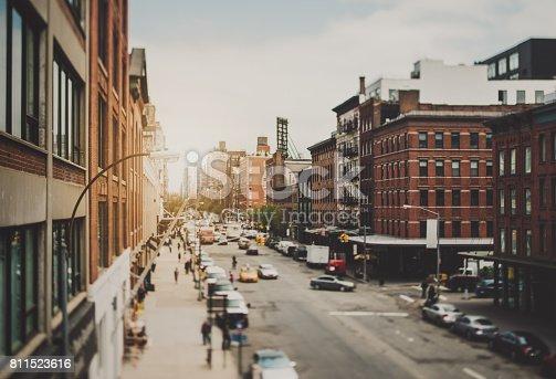 Manhattan streetview, Tilt-shift lense was used