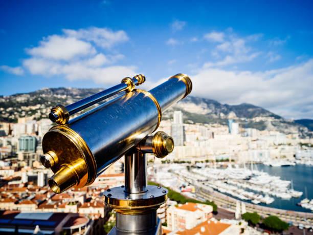 Vue d'angle élevé à harbor de Montecarlo - Photo