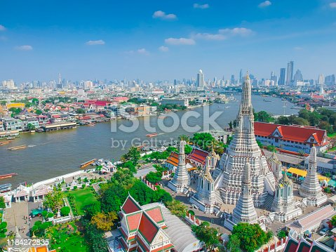 High angle view Bangkok Thailand