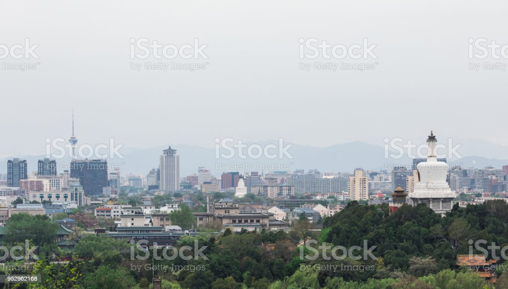 High angle View Beijing Skyline stock photo